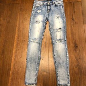 Harlow Mid Rise Distressed Skinny Jeans sz 27